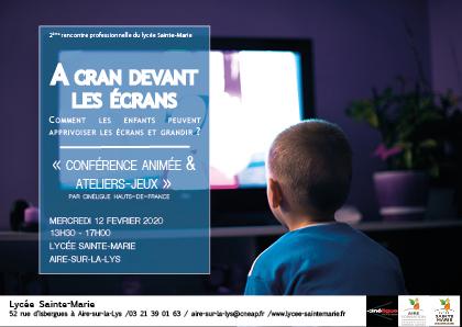Invitation journée professionnelles : à cran aux écrans (0 - 6 ans)