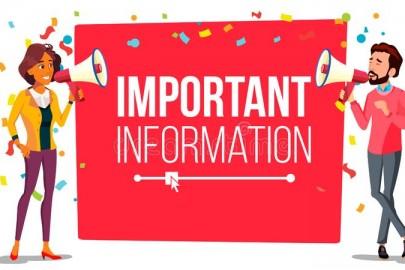 INFORMATIONS AUX FAMILLES